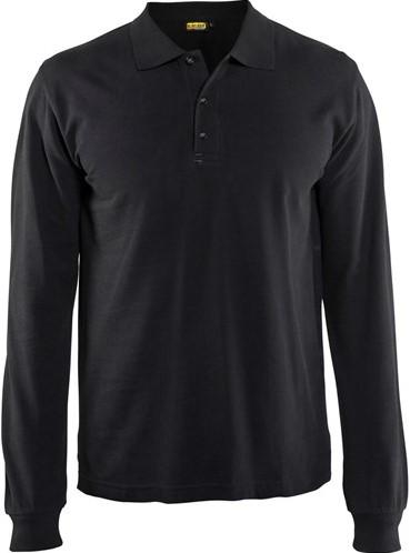 SALE! Blaklader 3388 Poloshirt lange mouw - Zwart - Maat L