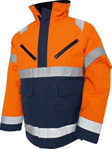 SALE! Blaklader 48271977 Winterjas HIGH VIS - Oranje/Marineblauw - Maat L