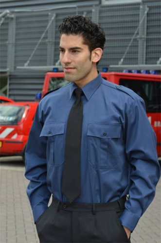 SALE! Me Wear 15.0005.25 Heren Pilot shirt James - LM - Marine blauw - Maat 47/48
