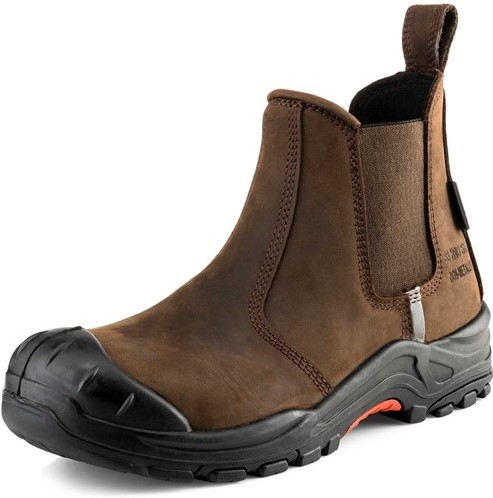 OUTLET! Buckler Boots Nubuckz Instapper Veiligheidsschoen S3 - Bruin - 44