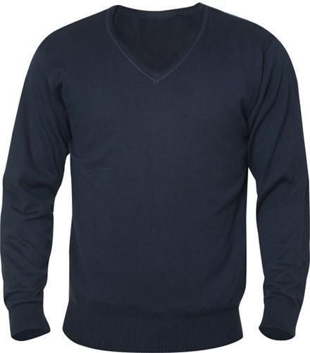 SALE! Clique 021174 Aston heren V-neck sweater - Dark navy - Maat L