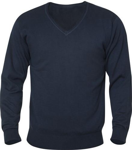 SALE! Clique Aston heren V-neck sweater - Dark navy - Maat 2XL