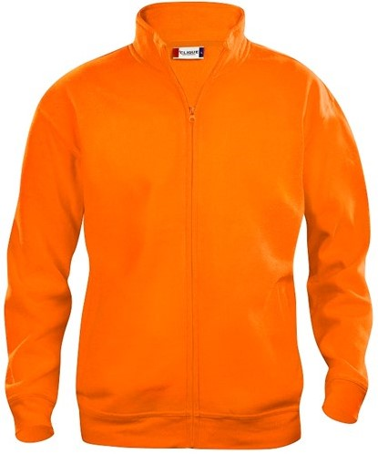 OUTLET! Clique Basic cardigan - Signaal oranje - Maat L