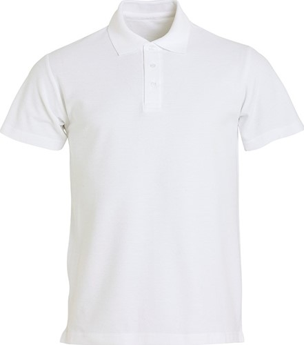 SALE! Clique 028230 Basic heren polo - Wit - Maat XXL