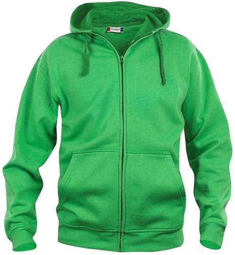 SALE! Clique 021034 Basic hoody full zip - Appelgroen - Maat L