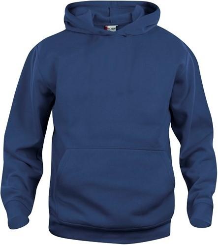 SALE! Clique 021021 Basic hoody kinderen - Dark navy - Maat 90/100 3-5-jaar