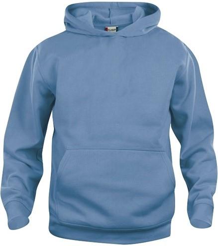 SALE! Clique 021021 Basic hoody kinderen- Lichtblauw -  Maat 90/100 3-5 jaar