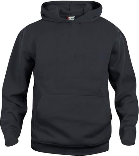 SALE! Clique 021021 Basic hoody Kinderen - Zwart - Maat 90/100 3-5 jaar