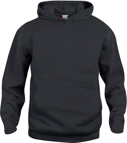 SALE! Clique 021021 Basic hoody Kinderen - Zwart - Maat 90/100