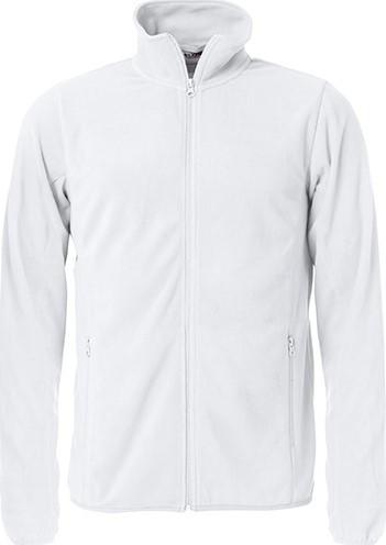 OUTLET! Clique Basic micro fleece jacket-Wit- MaatXL