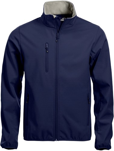 OUTLET! Clique Basic Softshell jacket heren - Dark Navy - Maat XXL