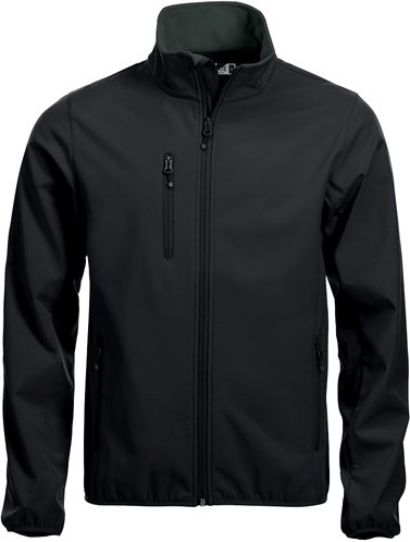 OUTLET! Clique Basic Softshell jacket heren-Zwart - Maat 4XL