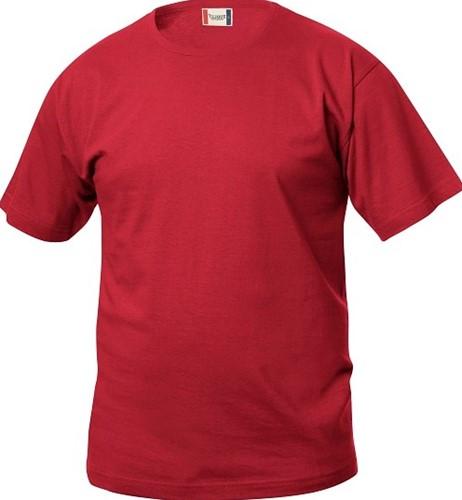 SALE! Clique Basic-T bodyfit T-shirt - Rood - Maat M