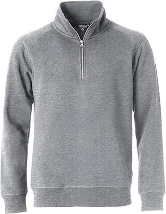 SALE! Clique 021043 Classic half zip - Grey melange - Maat M