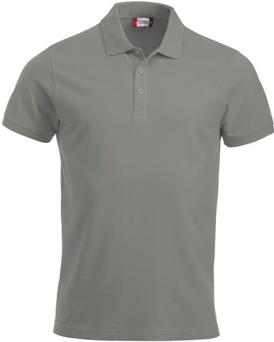 SALE! Clique Classic Lincoln hr polo - Silver - Maat S