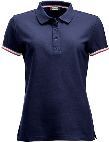 SALE! Clique 028239 Newton dames polo - Donker blauw - Maat L