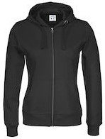 SALE! CottoVer 141009 Full Zip Hood Dames - Zwart - Maat XL