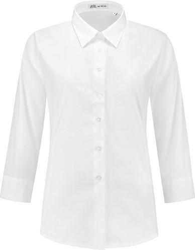 OUTLET! Dames blouse Julie 3/4 mouw - Wit - Maat M