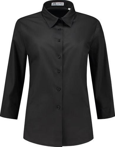 SALE! Me Wear 5020 Dames Blouse Julie 3/4 Mouw - Zwart - Maat 2XL