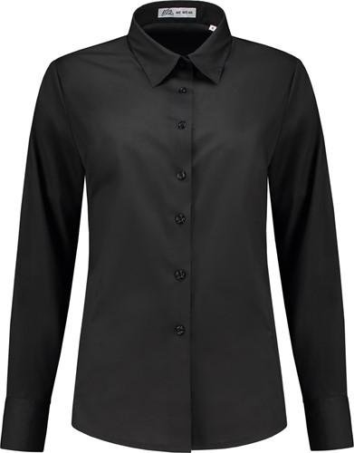 SALE! Me Wear 5024 Dames blouse Juliette LM - Zwart - Maat L