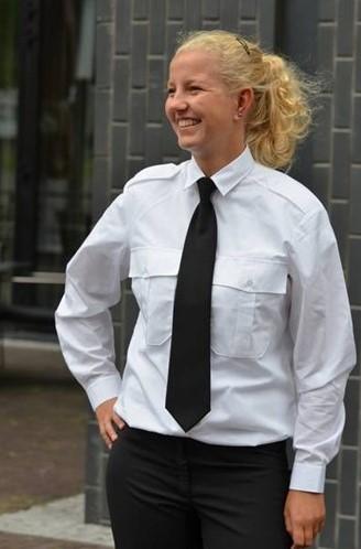 SALE! Me Wear 10.0001.50 Dames Pilot shirt Esther - LM - Wit - Maat 46