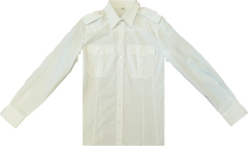 SALE! Qrap Pilotshirt Lange Mouwen Dames - Wit - Maat 34
