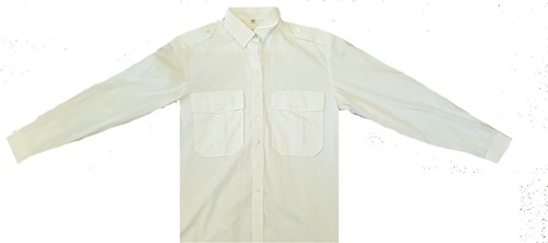 SALE! Qrap Heren Pilot shirt 15.0015.50 Edwin - LM - Wit - maat 47/48