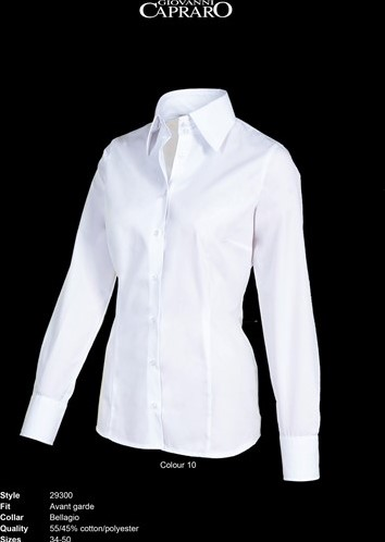SALE! Giovanni Capraro 29300-10 Blouse - Wit - Maat 38