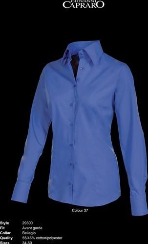 SALE! Giovanni Capraro 29300-37 Blouse - Donker Blauw - Maat 44