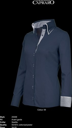 OUTLET! Giovanni Capraro 29309-39 Blouse - Maat 46