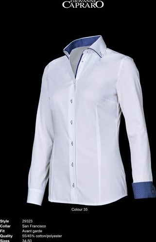 OUTLET! Giovanni Capraro 29323-35 Blouse - Maat 48