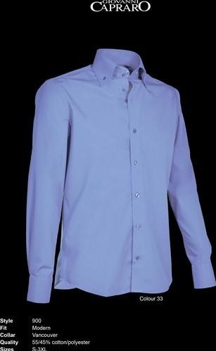 SALE! Giovanni Capraro 900-33 Heren Overhemd - Blauw - Maat L