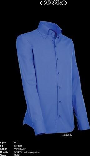 SALE! Giovanni Capraro 900-37 Heren Overhemd - Donker Blauw - Maat L
