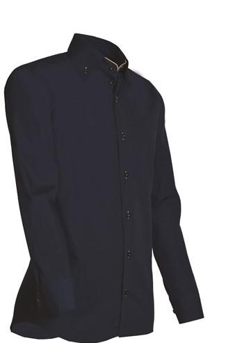 SALE! Giovanni Capraro 926-39 Heren Overhemd - Navy [Beige accent] - Lange Mouw - XXL