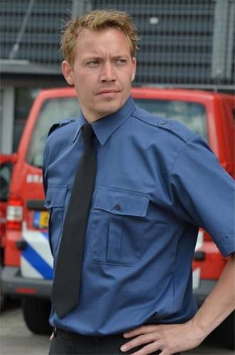 SALE! Qrap 15.0004.25 Heren Pilot shirt John - KM - Marine blauw - Maat 41/42