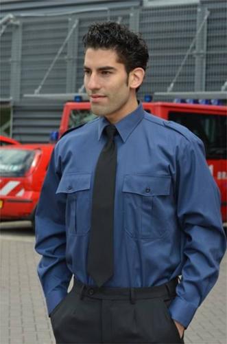 SALE! Me Wear Heren Pilot shirt - LM - Marine blauw - Maat 41/42 - Armlengte 6