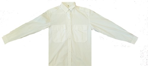 SALE! Qrap Pilotshirt Lange Mouwen - Wit - Maat 49/50