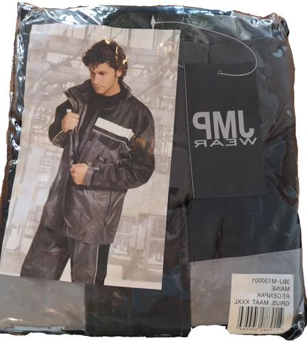 SALE! JMP Regenpak - Zwart - Maat 3XL