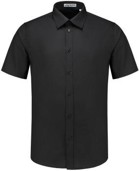 SALE! Me Wear 5010 Heren overhemd Brandon KM - Zwart - Maat L