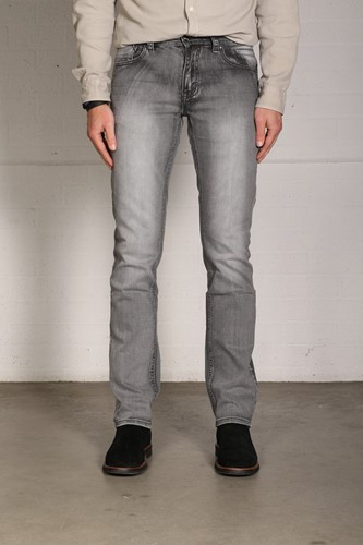 SALE! New Star 999 JV Slim Fit Stretch Denim - Grijs - Maat L