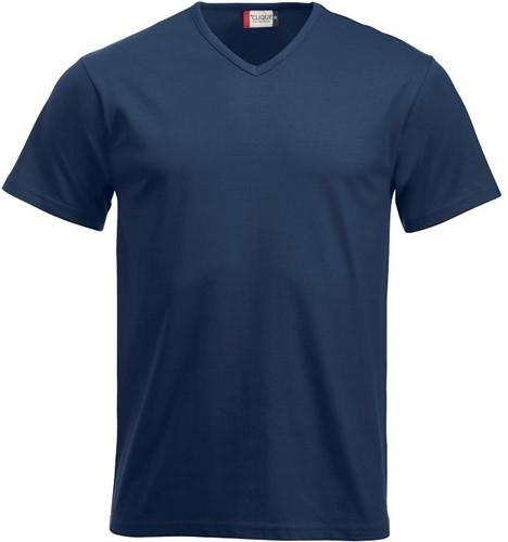 SALE! Clique 029331 Fashion-T V-neck T-shirt - Navy - Maat M