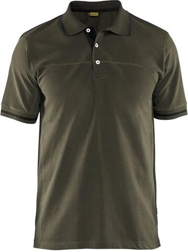 SALE! Blaklader 3389 Poloshirt - Groen/Zwart - Maat L