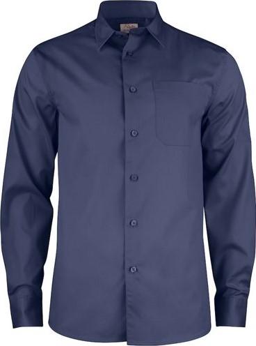 SALE! Printer 2263015 Point Overhemd - Donkerblauw - Maat M
