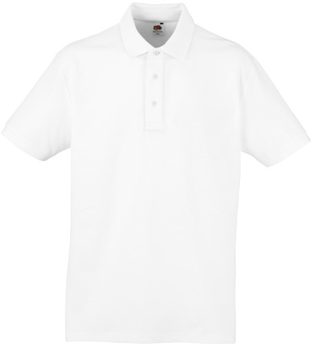 SALE! Fruit of the Loom SC280 Premium Polo-shirt - Wit - Maat 2XL