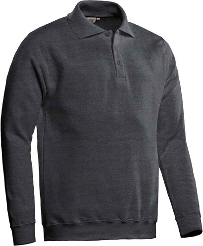 SALE! Santino Polosweater Robin - Grijs - Maat 3XL