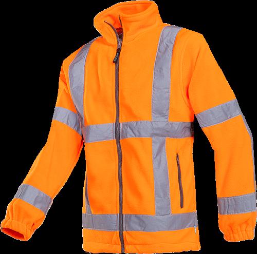 SALE! Sioen 353AA2TX2FC1L Berkel Signalisatie Fleece Jas (RWS)-Fluo Oranje - Maat L