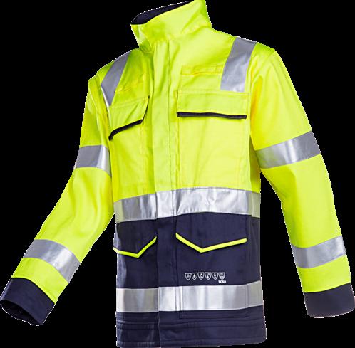 SALE! Sioen 010VA2PFA Millau Signalisatie Blouson met ARC bescherming - Fluo Geel/Marine - Maat 54