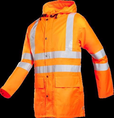 SALE! Sioen 198AA2X98 Monoray Signalisatie Regenjas - Oranje - Maat L