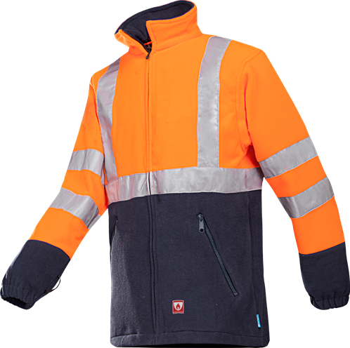 SALE! Sioen 496ZN2TF1 Rainier Vlamvertragende Signalisatie Fleece - Oranje - Maat S