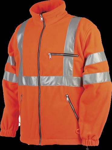 SALE! Sioen Reims Signalisatie Fleece Jas Fluo - Oranje - Maat XS